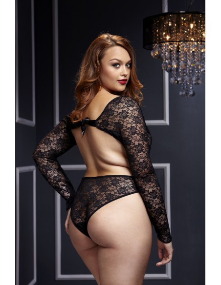 Black Lacy Bodysuit Q - Baci
