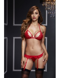 Komplet Red Lacy S/M/L - Baci