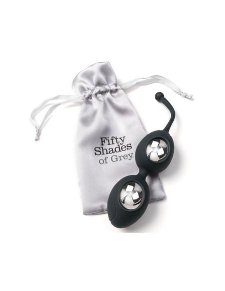 Ben Wa silikonske kroglice Delicious Pleasure - Fifty Shades of Grey