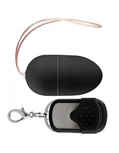 Črn Vibracijski jajček z daljinskim upravljalcem Glossy Remote egg II
