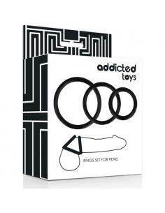 Komplet 3 erekcijskih obročkov Addicted toys