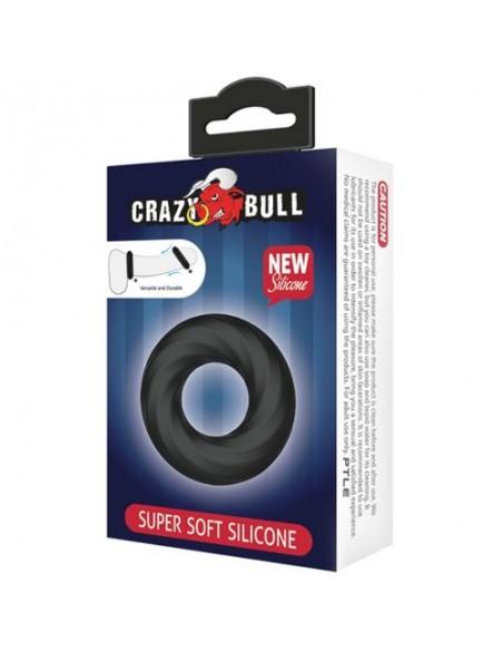 Silikonski Erekcijski obroček Super soft Crazy bull