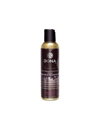 Užitno masažno olje z okusom Čokolade - Dona