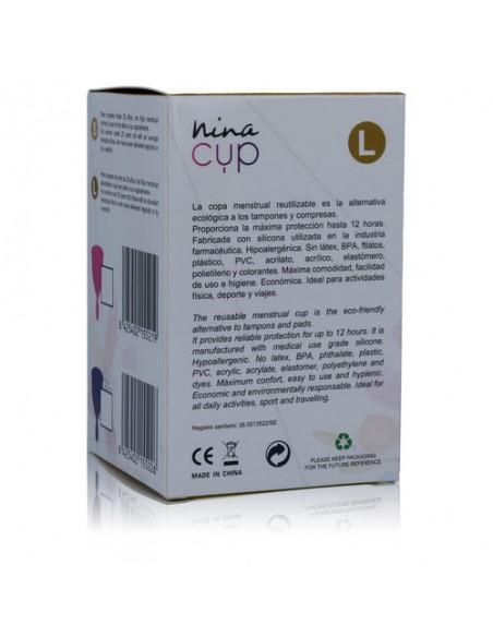 Silikonska Menstrualna skodelica Nina cup S ali L