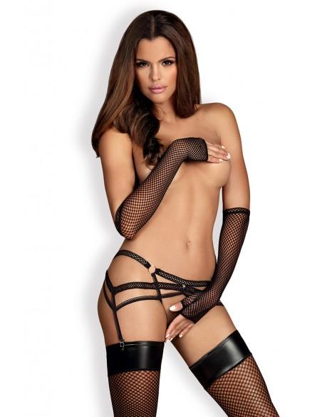 Pas za nogavice Darkie garter belt - Obsessive