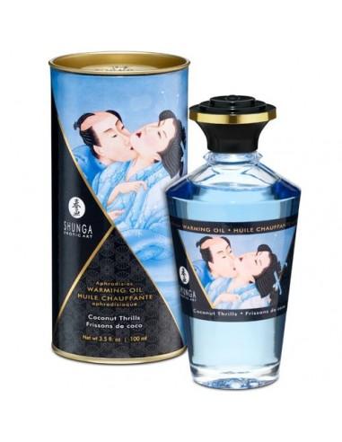 Grelno užitno masažno olje okus Kokosa Shunga Intimate kisses