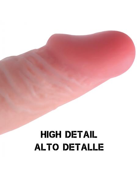 Dildo z drsečo kožico Rockarmy Dual density 24 cm