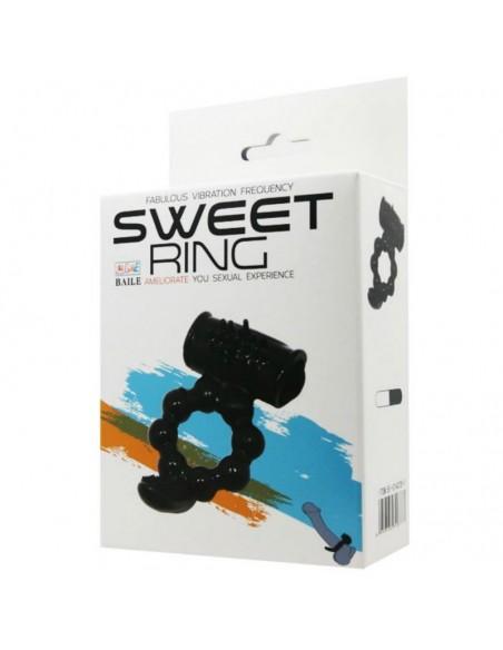Vibracijski obroček Baile Sweet ring double stimulation