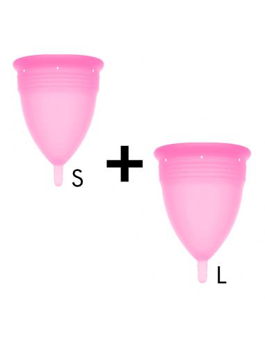 Dve menstrualni skodelici S + L...