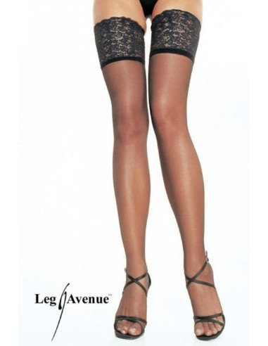 Samostoječe nogavice s čipko Queen - Leg Avenue