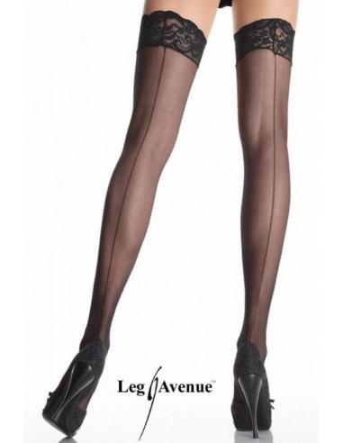 Samostoječe nogavice s čipko - Leg Avenue