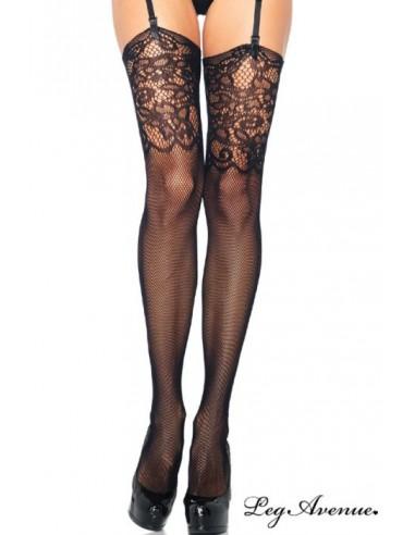Hlačne nogavice Résille Jacquard - Leg Avenue